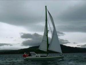Ericante en mer d'Irlande en 2011
