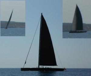 2014-09-09 12h26 grand voilier noir baie de Palma Majorque Baleares (2)