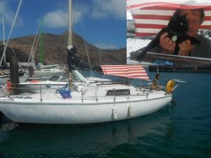 2014-04-25 15h55 Marcel dit Eric sur son voilier Mali Porto Santo