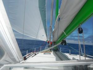 2014-04-28 13h00 sous gennaker seul entre Madère et les Açores