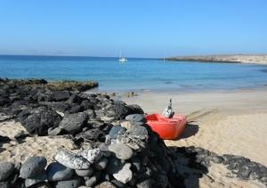 2014-04-15 9h43 mouillage de playa Francesa La Graciosa Lanzarote