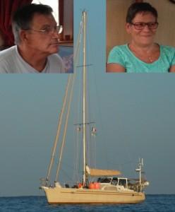 2014-09-26 17h39 Josy et René de Taravana Chatam alu 47 Cala de Canyamel Majorque Est