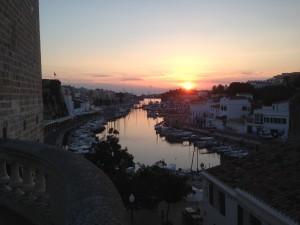 2014-10-29 17h34 coucher de soleil sur le port de Ciutadella Minorque