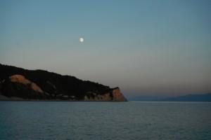 2015-10-25 17h46 lever de lune sur Erikoussa Grèce Mer ionienne