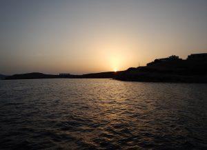 2016-05-30 20h15 soleil sur Schoinoussai Cyclades